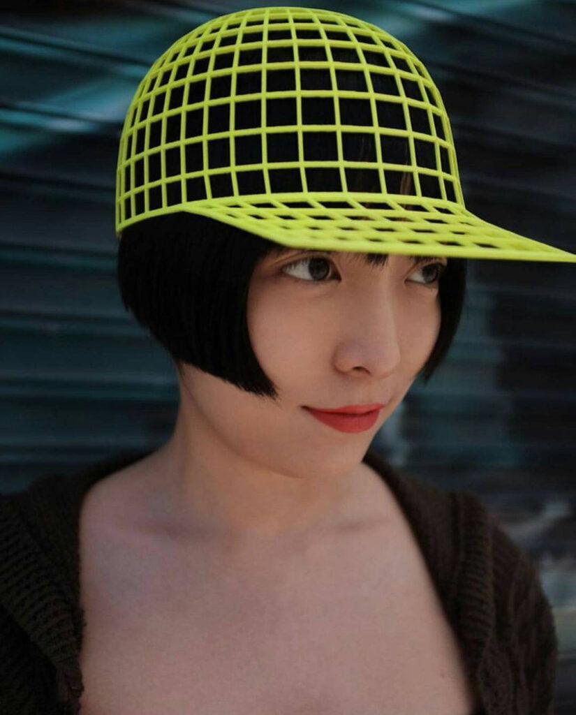 HEIDI LEE in her VORTEX HAT