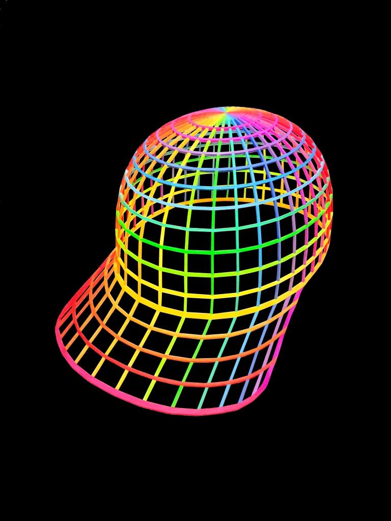 PARAMETRIC RAINBOW VORTEX HAT