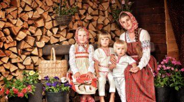 Международный фотоконкурс «Мама и дети в национальных костюмах»